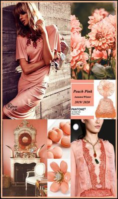 '' Peach Pink '' Pantone - Autumn/ Winter 2020 Color'' by Reyhan S.- '' Peach Pink '' Pantone – Autumn/ Winter 2020 Color'' by Reyhan S. Fashion Colours, Colorful Fashion, Autumn Winter Fashion, Fall Winter, Winter Colors, Peach Colors, Pantone Color, Fashion 2020, Color Trends
