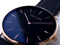 The timeless Montiere Rouése MMXV watch is flawlessly round and simple…