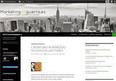 Blog en wordpress de marketingdeguerra.es
