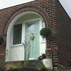 Front Door Porch, Porch Doors, Front Door Entrance, House Front, Front Doors, 1930s Doors, Composite Front Door, 1930s House, External Doors