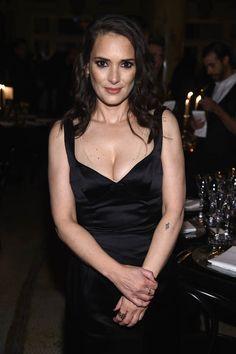 Winona Ryder at the Marc Jacobs Beauty Velvet Noir Mascara launch with boyfriend Scott Hahn|Lainey Gossip Entertainment Update