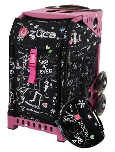 Zuca Limited Edition Rhinestone Embellished SK8 bag (pink frame) by ZUCA. $175.00. The Zuca ice skating bags have interchangable inserts and a seat that holds up to 300 pounds