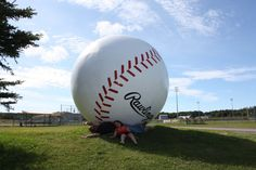 The World's Largest Baseball, located in Sault Ste Marie Ontario. Canada Summer, O Canada, Canada Travel, Sault Ste Marie Ontario, Sault Ste Marie Michigan, Ontario Travel, West Coast Road Trip, Roadside Attractions, Lake Michigan
