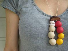 bubala: Polymer clay beaded necklace tutorial