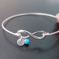 Personalized Birthstone Bracelet Infinity by FrostedWillow on Etsy, $24.95