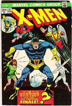"Cool layout - ""LOGIC"" in place of X-MEN in similar font. Uncanny X-Men 87 1963 Series April 1974 Marvel Comics Marvel Comics, Marvel Xmen, Marvel Comic Books, Comic Books Art, Comic Art, Book Art, Marvel Art, Marvel Characters, Comic Superheroes"