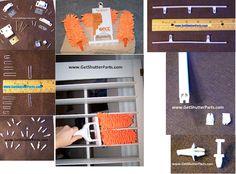 Vinyl Shutter Repair Parts Diy Shutters Pinterest