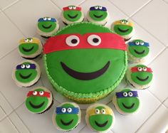 TMNT CAKE & CUPCAKES - For all your cake decorating supplies, please visit craftcompany.co.uk