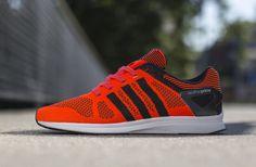 adidas Adizero Feather Primeknit – Solar Red / Black – Black