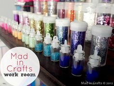 Mad in Craft's Work Room - tips for organization and DIY storage ideas