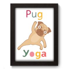 Quadro Decorativo - Yoga Pug - 055qds