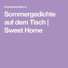 Sommergedichte auf dem Tisch | Sweet Home