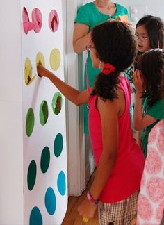 Neat alternative to pinatas.  A punch box for party favors - like the price is right game! I loved that game... part-ay