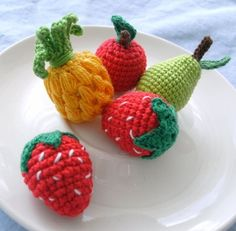 """amigurumi fruit! #fruit #colorful #crochet #amigurumi #kawaii #cute #crafts #etsy"" #Amigurumi #crochet"