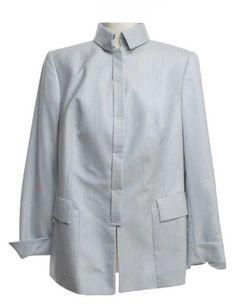 AKRIS  Blazer Blazer, Shirt Dress, Luxury, Mens Tops, Shirts, Dresses, Fashion, Stripe Pattern, Cashmere