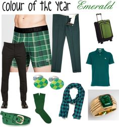 """""""Colour of the year for men - Emerald"""" by transform-image-consulting on Polyvore"""