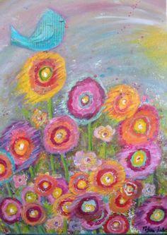 Garden of Joy 8 x 10 print from original acrylic painting