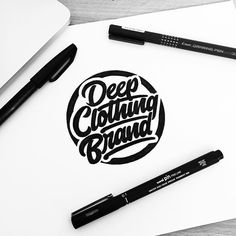 From illesso_ on Instagram. Deep Clothing Brand!  #customtype #customlettering #customtypography #goodtype #thedailytype #type #typism #typegang #typespot #typography #typematters #brushtype #handtype #handdrawn #handmadefont #letters #lettering #letteringdesign #pen #ink #illustration #illustrated #font #design #script #sketch #drawing #thefinelab #todaystype #lettering
