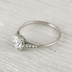 1 Carat Cushion Cut Vintage Engagement Ring | Erstwhile- really love this one