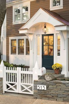 70 Best Modern Farmhouse Front Door Entrance Design Ideas 38 – Home Design Front Door Overhang, Front Door Porch, Front Door Entrance, Exterior Front Doors, Portico Entry, House Entrance, House Doors, Front Porches, Porch Roof