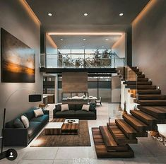 Modern architecture house design with minimalist style and luxury exterior and i. - Modern architecture house design with minimalist style and luxu. Loft Design, Modern House Design, Modern Living Room Design, Modern Wood House, Tropical House Design, Modern Condo, Design Hotel, Design Case, Home Interior Design
