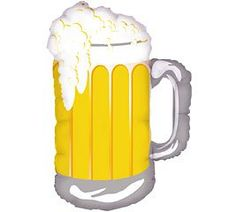 "Frosty Beer Mug 34"" Giant Foil Balloon"