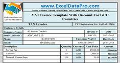 download arabic vat invoice template for bahrain kuwait oman