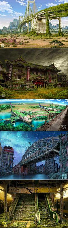 Post-apocalyptic Tokyo: