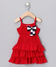 Take a look at this Red Ruffle Dress by Blow-Out on #zulily today!