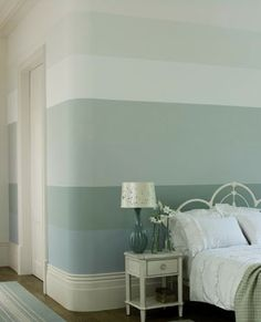 horizontal paint stripe ideas | New year, new wall colours! :: allaboutyou.com