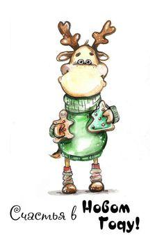 Идеи подарков ❄ Подарки своими руками ❄ Christmas Drawing, Christmas Paintings, Christmas Art, Whimsical Christmas, Christmas Characters, Christmas Illustration, Country Art, Xmas Ornaments, Illustrations And Posters