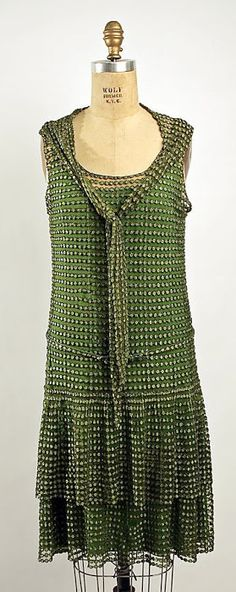 Hattie Carnegie Dress - 1926-27 - by Hattie Carnegie, Inc. (American) - Silk - @~ Watsonette