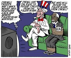 Gaza- political cartoons by Latuff // American Imperialism supporting Israeli war crimes over the United Nations American Imperialism, American Dog, Israel Palestine, Apartheid, United Nations, Political Cartoons, Troops, Crime, Politics