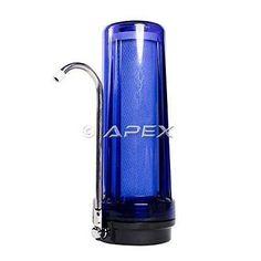 Apex 2-Stage Countertop Water Filter (Cobalt Blue)