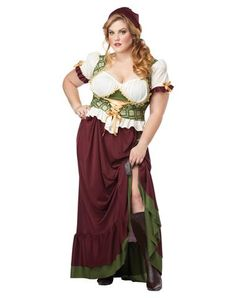 Renaissance Wench Adult Womens Plus Size Costume...I can use this for Halloween AND the Renaissance Fest :)