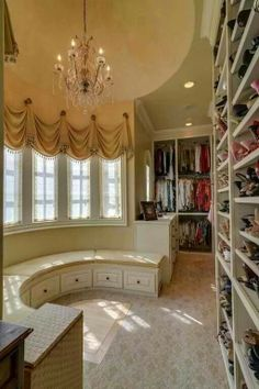 It's a little sick how exciting I find beautiful organized closets. If I had one it would be my favorite room in the house. Maybe because I can't open my current closet door without a shoe hitting me in the face. :/