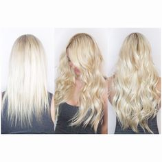 Blonde extensions by Dkwstyling