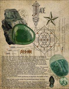 Jade, Book of Shadows printable page. Jade, Book of Shadows printable page. Wiccan Spells, Magick, Green Witchcraft, Crystals And Gemstones, Stones And Crystals, Herbal Magic, Crystal Magic, Alchemy, Book Of Shadows