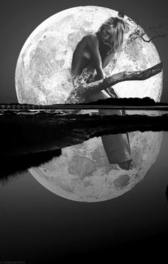 .. Moon Goddess, Moonlight, Dreams, Tattoo, Artwork, Outdoor, The Moon, Universe, Outdoors