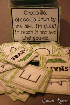 Crocodile Snap! Alphabet Cards