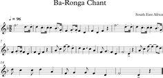 Ba-Ronga Chant. Canción Tradicional del Sudeste Africano