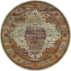A2Z Rug Cream 5' 5 x 5' 5 Feet Round St. Tropez Collection Traditional and Modern Area Rugs and Carpet -- More info could be found at the image url. (This is an affiliate link) #HomeDcor