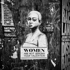dontcalmdown:  Tatyana Fazlalizadeh makes her mark in #Brooklyn as part of her #stoptellingwomentosmile project. #womenarenotseekingyourvali...