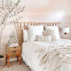 Cozy Bedroom, Bedroom Inspo, Bedroom Ideas, Bedroom Designs, Cream Bedroom Walls, Tan Bedroom, Bedroom Apartment, Zen Master Bedroom, Boho Teen Bedroom