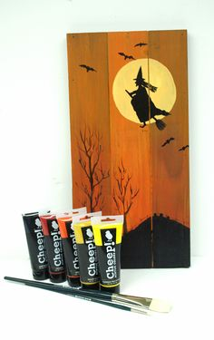 Happy Halloween!  Painted pallet with Cheep! paints availabel at Ben Franklin Crafts in Bonney Lake, Wa.