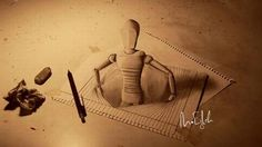 dibujos tridimensionales con lapiz