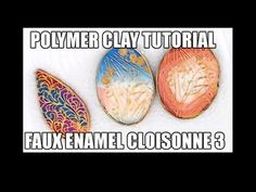 044-Polymer clay tutorial - faux enameled cloisonne 3rd technique