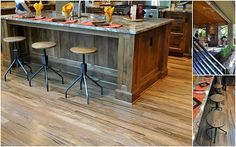 Rustic Kitchen Island - Street of Dreams