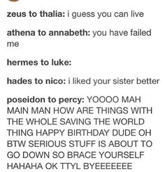 OMG SO TRUUUEEE Then in heroes of Olympus Zeus is all of a sudden Best Dad in the World and he's all kind and forgiving and stuff. No. No.