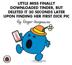 """16 """"Mr Men"""" And """"Little Miss"""" Characters You'll Meet In London Little Miss Characters, Little Miss Books, Mr Men Little Miss, Funny Picture Quotes, Funny Pictures, Funny Quotes, Mr Men Books, Children's Books, Funny Ads"""